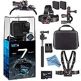GoPro Hero7 Hero 7 Waterproof Digital Action Camera Advanced Bundle (Black)