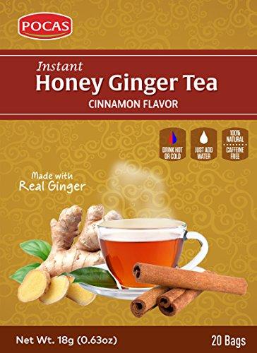 Pocas Honey Ginger Tea, Cinnamon, 12.7 Ounce, 20 Bags (Pack of 2) ()