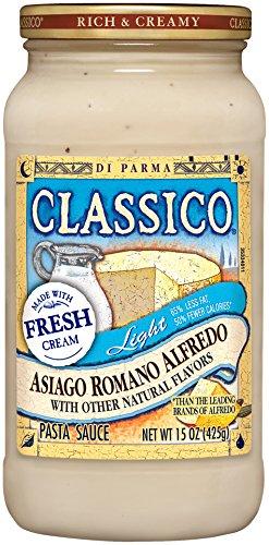 Classico Pasta Sauce, Asiago Romano Alfredo, 15 Ounce