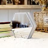 Charging creative multifunctional mirror LED small alarm clock mute luminous electronic seat dresser,A