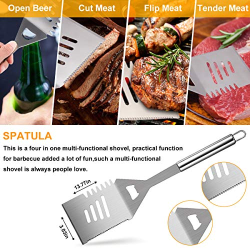 Loytbergs BBQ Tools Set, Grilling Accessories, 27 PCS Stainless Steel Grill Kit, Dad Grilling Gifts, Great Barbecue Utensil Tool for Men Women