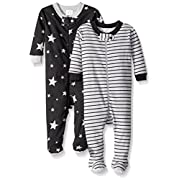 Gerber Baby Boys 2 Pack Footed Sleeper, Stars/Stripes, 9 Months