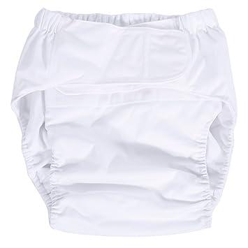 waschbar wiederverwendbar und verstellbar Windel Inkontinenz-Hygieneartikel f/ür /ältere Menschen Gelb Windelhosen gegen Inkontinenz f/ür Erwachsene