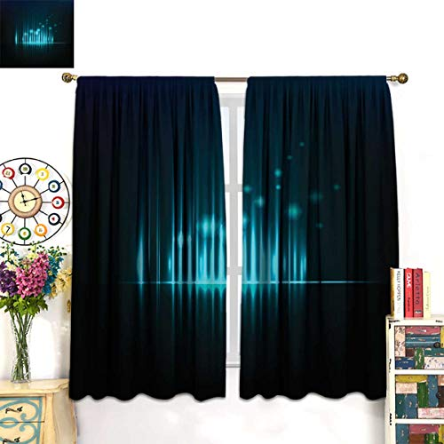 Price comparison product image Relacee Blackout Thermal Curtain Panel Abstract Background Graphic Equalizer Vector eps 10 Drape W55 x L63 inch