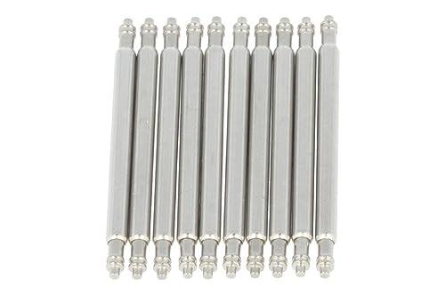 PUREgrey 10 x Federsteg 22mm x 1,5 Durchmesser Edelstahl