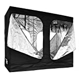 Reflective Mylar Indoor Hydroponic Grow Tent Two Door: 96x48x78 Inch (Appx. 8ft x 4ft x6.5ft)