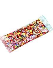 1000pcs / väska 3d polymer lera nagel skivor stjärntecknad blomma frukt fjäder manikyr nagel konst dekoration klistermärken