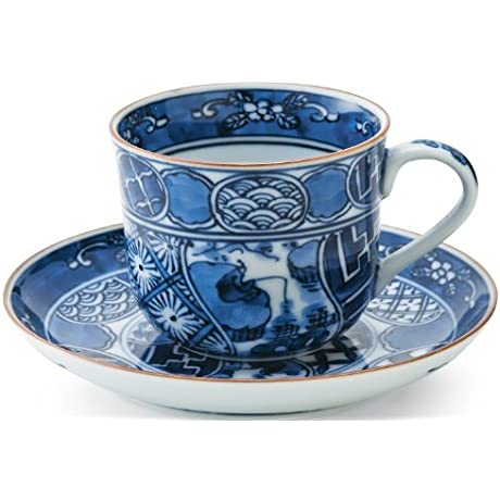 Hirado Shonzui 3inch Coffe Cup Saucer Porcelain