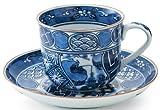 Hirado Shonzui 3inch Coffe Cup & Saucer Porcelain