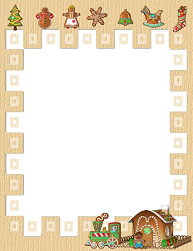 Paper Gingerbread Man (Christmas Gingerbread Man & House Stationery Printer Paper 26)