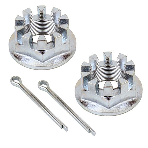 (CALTRIC SET OF 2 REAR AXLE NUTS w/PIN FOR HONDA TRX350 RANCHER 350 2X4 4X4 2000-2006)