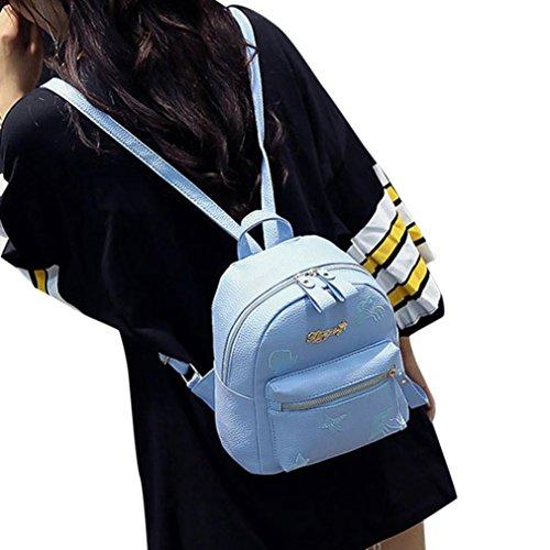 fdd92081e9db Women Girl Rucksack PU Leather Shoulder Bag BCDshop Satchel Purse Travel  Shopping Backpack (Sky Blue, 7.9''X9.8''X5.1'')