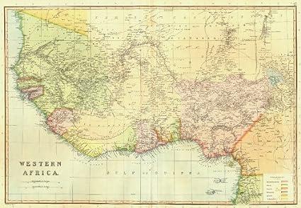 West Africa Benin Map.Colonial West Africa Nigeria Ghana Togo Benin Blackie