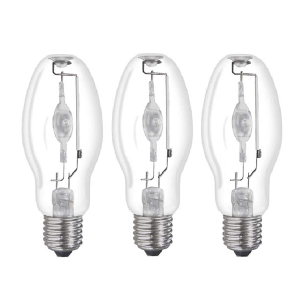 (3 Pack) MH50/U/MED 50W Metal Halide Bulb ED17 Medium Base Clear