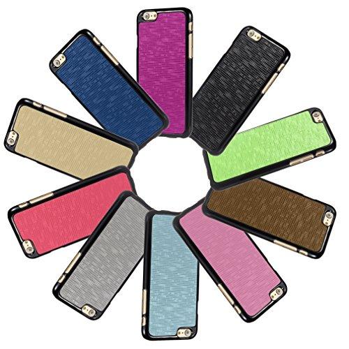 Bralexx 7123Schwarz-7125Braun-Karo Smartphone Case passend für Apple iPhone 6 11,9 cm (4,7 Zoll) braun