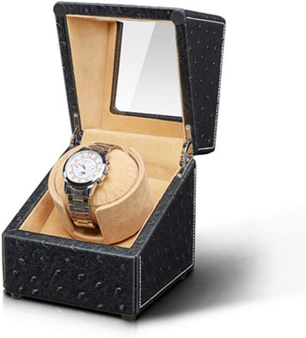 AWJ Individual automático Cajas giratorias para Relojes automaticos para 1 Caja de Reloj de Pulsera Rotación Ultra silenciosa con batería o Adaptador de CA para Hombres y Mujeres,Maquinaria,Negro: Amazon.es: Deportes y aire
