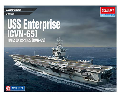 (Academy USS Enterprise CVN-65 Aircraft Carrier Plastic Model Kits 1/600 Scale)