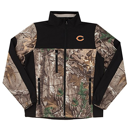 NFL Chicago Bears Hunter Colorblocked Softshell Jacket, Real Tree Camouflage, X-Large