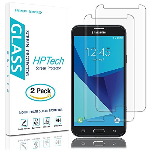 low-cost HPTech Galaxy J7 V Screen Protector - (2-Pack