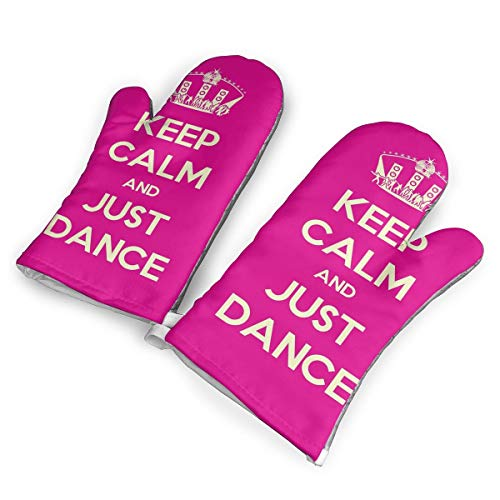 (Polobili Keep Calm and Just Dance Stage Disco Ball Heat Insulation Gloves, A Pair of Gloves, A Heat Insulation Mat.(1.6 Inches Thick))