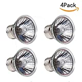 CTKcom 25W UVB Light UVA Bulb Halogen Basking Bulb(4 Pack)- 110V Full spectrum Reptilian Lamp Lizard Lamp UV Heating Lamp Spot Lamp For Turtle Aquarium Aquatic Reptile Lizard Habitat Heat Light,4 Pcs