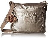 Kipling Women's Sebastian Crossbody Bag, Metallic Pewter