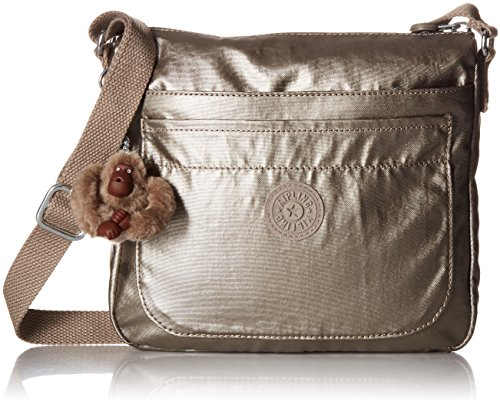 (Kipling Women's Sebastian Crossbody Bag, Metallic Pewter)