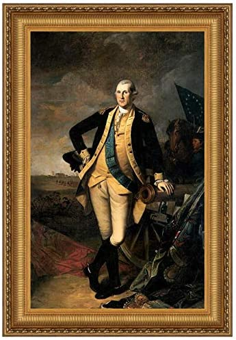Design Toscano George Washington at the Battle of Princeton, 1781 Canvas Replica Pa…