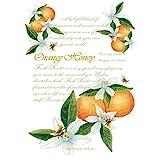 Willowbrook Fresh Scents Scented Sachet Set of 6 - Orange Honey
