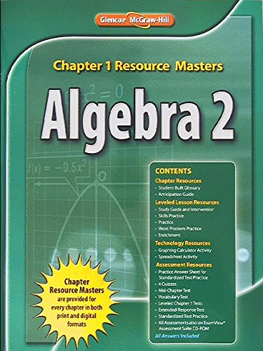 Glencoe Algebra 2 Chapter 1 Resource Masters 9780078905261