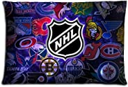 20x30inch 50x76cm bed pillow protector cases Cotton Polyester Imported graceful NHL ice hockey logo
