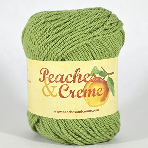 Peaches & Creme (Cream) Cotton Yarn Rosemary 2.5 oz. (Green)