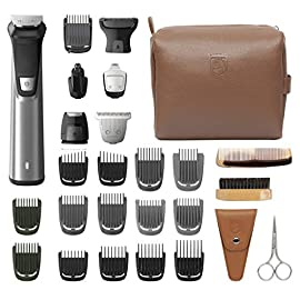philips norelco mg7791/40 multi groomer - 51uyZkjSMtL - Philips Norelco MG7791/40 Multi Groomer, 29 Piece Men's Grooming Kit  – No Blade Oil Needed