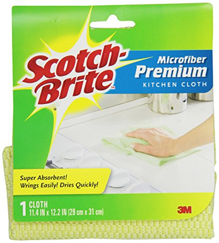 Cloth Brite Scotch Microfiber Cleaning - Scotch-Brite Premium Kitchen Cloth, Colors May Vary,  1-Count (Pack of 3)