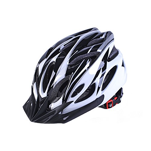 Best 007 Adult Cycling Bike Helmet (Black&White)