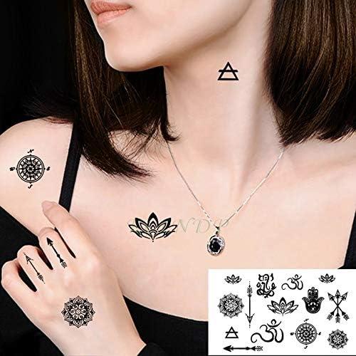 5pcs Impermeable pequeña Cruz engomada del Tatuaje del Sol y la ...