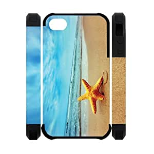 3D Starfish Running Best Custom Cell Phone Case Cover for iPhone 4, iPhone 4S