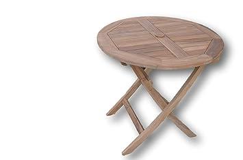 Peachy Patio Essentials Mortimer Solid Teak 80Cm 2 6Ft Round Folding Garden Table 2 4 Seater Download Free Architecture Designs Lectubocepmadebymaigaardcom