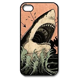Shark Case For iPhone 4/4s Black 6229388353193 by ruishername