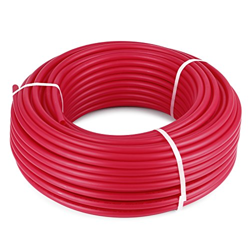 Happybuy Oxygen O2 Barrier PEX Tubing - 1/2 Inch X 300 Feet Tube Coil - Potable Water EVOH PEX-B Pipe for Residential Commercial Radiant Floor Heating Hot Cold Water Plumbing (Pex Radiant Heat)