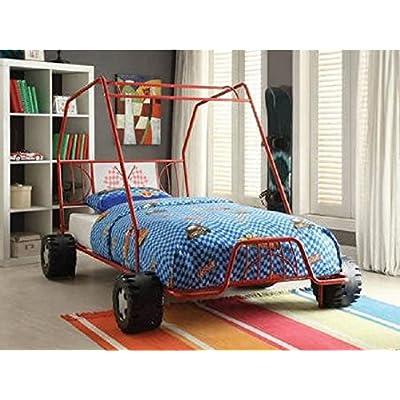 Buy Twin Car Bed Red Metal Dune Buggy Frame Boys Racing Slat Style No Box Spring Req Online In Hong Kong B01g7tcj0g