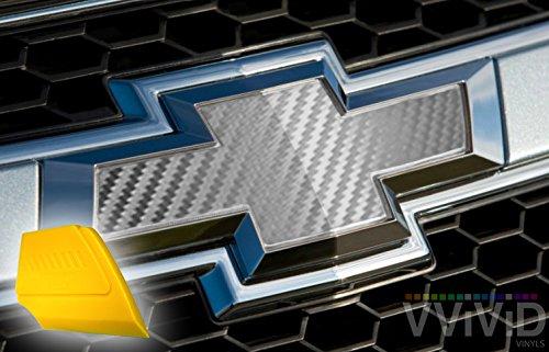 VViViD XPO Silver Carbon Fiber Chevy Bowtie Logo Wrap Kit (6 Rolls (11.8