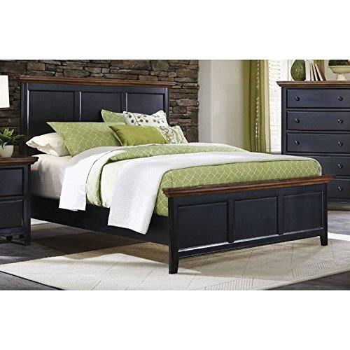 Coaster Home Furnishings 203121Q Full Bed, Medium Oak and Black - Full Sleigh Bed