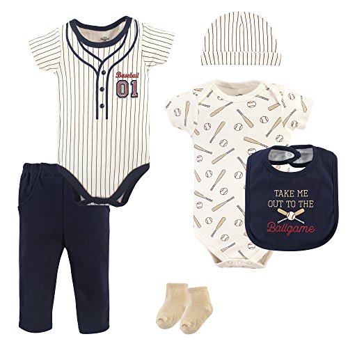 Little Treasure Baby 6 Piece Clothing Set, Baseball, 9-12 Months