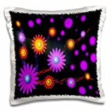 3dRose Neon Bright Flower Galaxy Art what Beautiful Pattern to show of, Only Available through - pillow Case, 16 by 16-Inch (pc_99569_1)