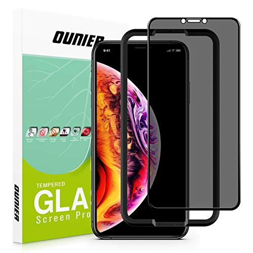 OUNIER for iPhone Xs MAX 28°True Privacy Screen Protector,[Full Coverage] [Edge to Edge] [Case Friendly] Anti Spy Tempered Glass Screen Film Compatible with iPhone Xs Max [6.5