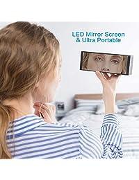 Altavoz Bluetooth con pantalla led, reloj despertador ZealSound 10W Altavoz inalámbrico Bluetooth con reloj LED, radio FM, sonido grande, pantalla regulable de graves y graves, batería larga de 4000mAH, 24 horas de reproducción (negro)