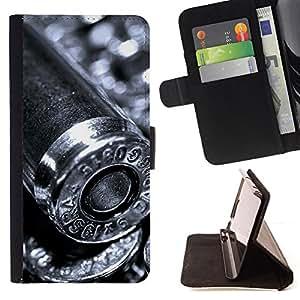BullDog Case - FOR/Samsung Galaxy S4 IV I9500 / - / Bullet /- Monedero de cuero de la PU Llevar cubierta de la caja con el ID Credit Card Slots Flip funda de cuer