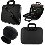 SumacLife Cady 12.2-inch Tablet Bag for Samsung Galaxy Note Pro & Tab Pro with Bluetooth Speaker (Black)