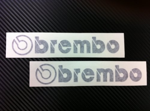 - 2 Racing Decal Sticker for Brembo (New) Black Size 6.5''x 1.25''